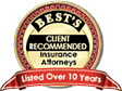 One of Best's client recommended insurance attorneys. Listed over 10 Years.